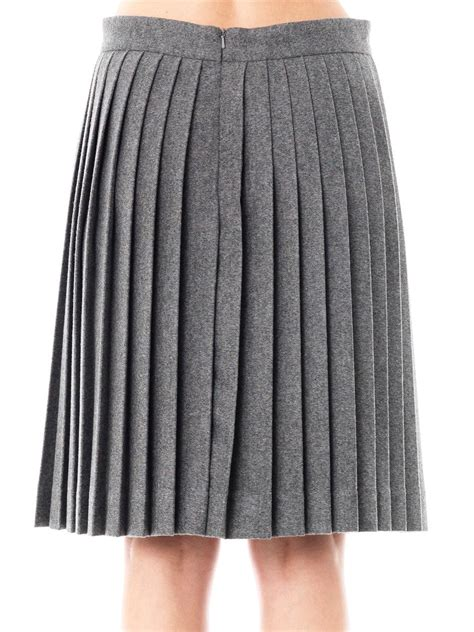 freda wool pleated skirt in gray lyst