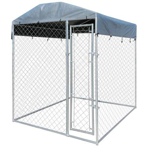 outdoor kennel vidaxl co uk heavy duty outdoor kennel with canopy top 200 x 200 x 235 cm