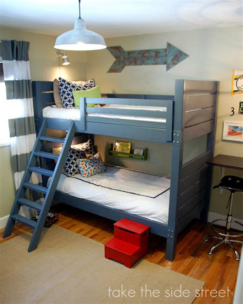 how to make a bunk bed white side bunk beds diy projects