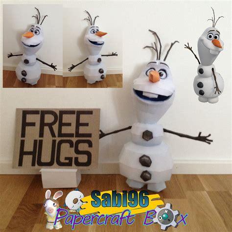 Papercraft Snowman - frozen paper model olaf the snowman paperkraft net