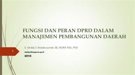 Manajemen Pembangunan Kepulauan Dan Pesisir fungsi dan peran dprd dalam manajemen pembangunan daerah