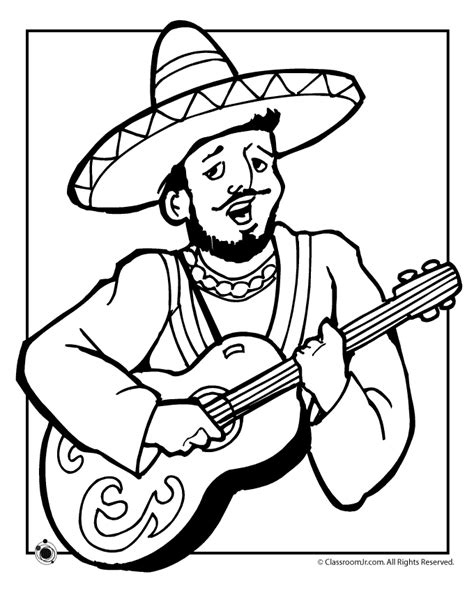 christmas in mexico coloring page az coloring pages
