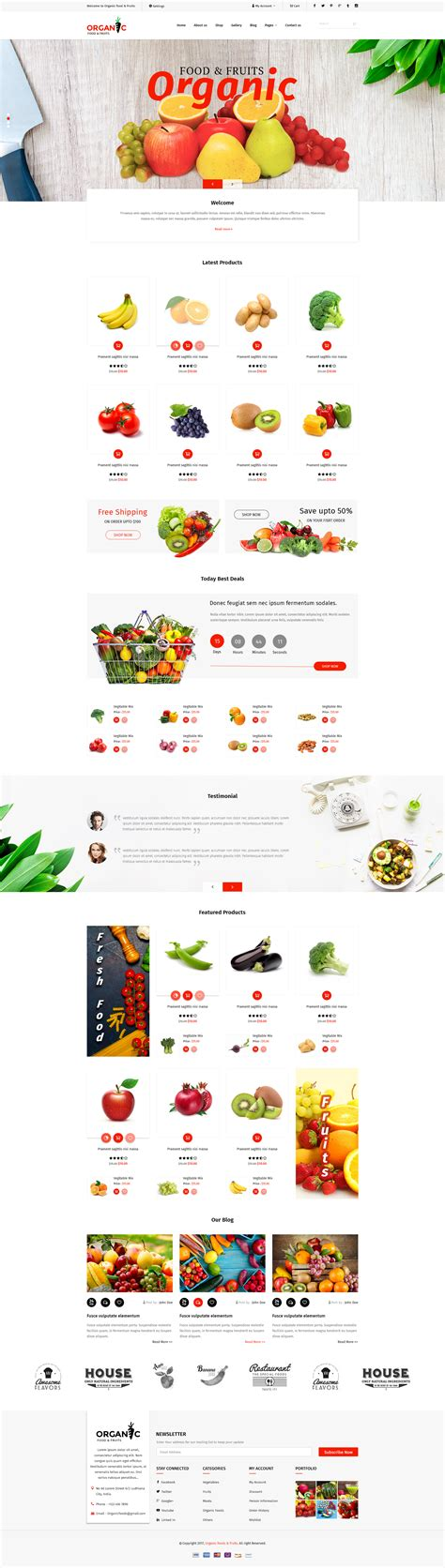 themeforest organic food organic foods and fruits psd template by tmdstudio