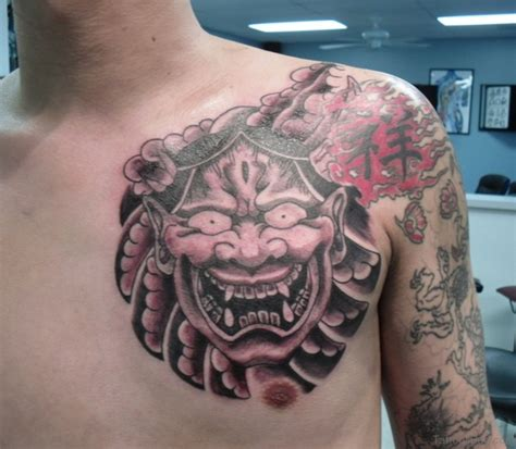 hannya mask chest tattoo meaning 63 classic mask tattoos on chest