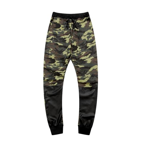 Celana Pria Harem dnine musim panas army mode menggantung celana selangkangan pelari patchwork harem celana pria