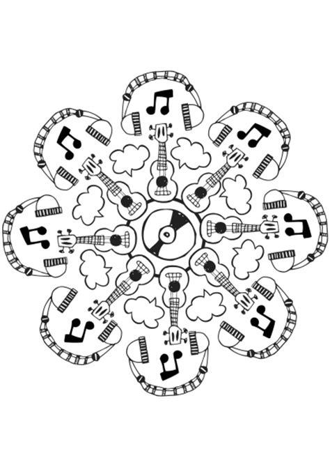 imagenes mandalas musicales instrumentos musicales 32 objetos p 225 ginas para colorear