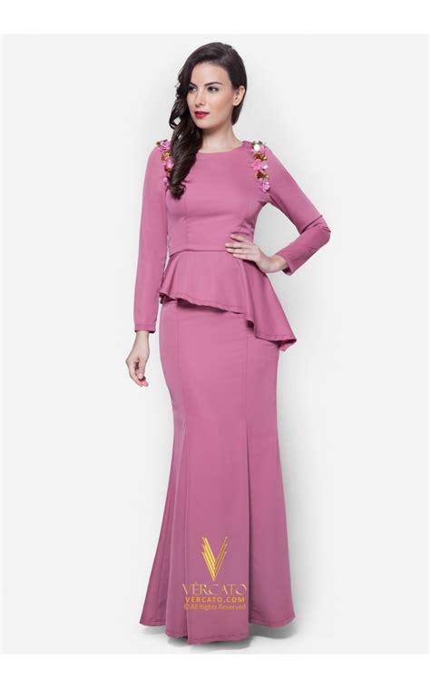 Baju Kurung Moden Biru Pink baju kurung moden peplum vercato laila in dusty pink
