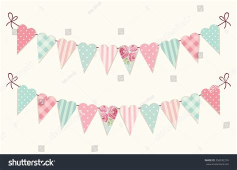 cute vintage heart shaped shabby chic stock illustration