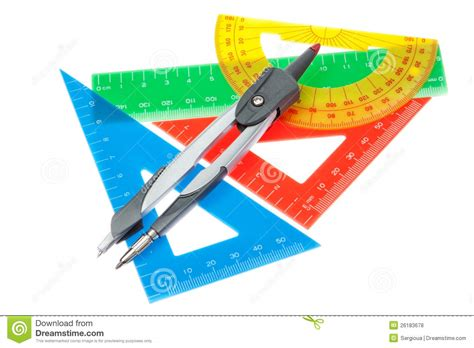 House Plans Free Download A Set Of Rulers For The And A Compass Royalty Free