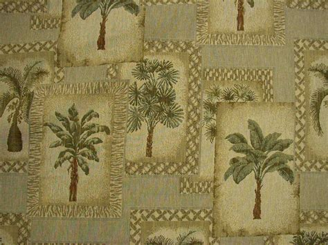 Desert Shade Palm Tree Tapestry Upholstery Fabric 4y