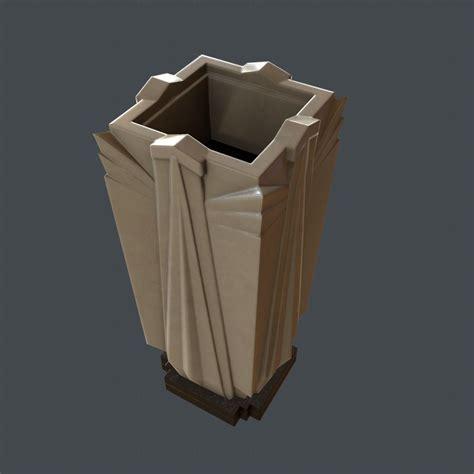 3d model art deco style vr ar low poly fbx c4d stl dae 3d model art deco vase game ready vr ar low poly obj