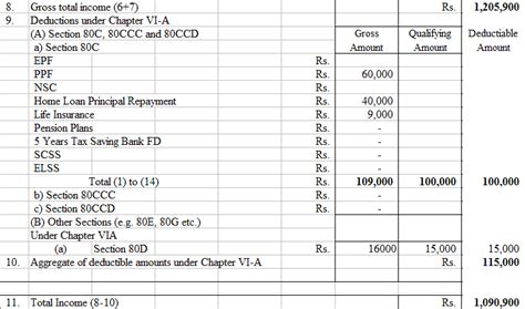 section 80 d calculation of income tax payable and filing of tax