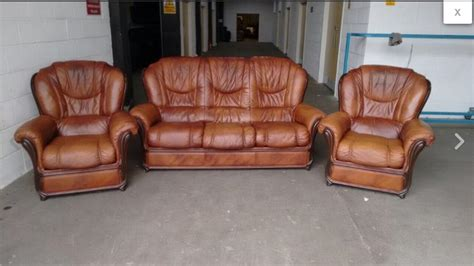 italian style leather sofas uk rust brown italian leather chesterfield style sofa set we