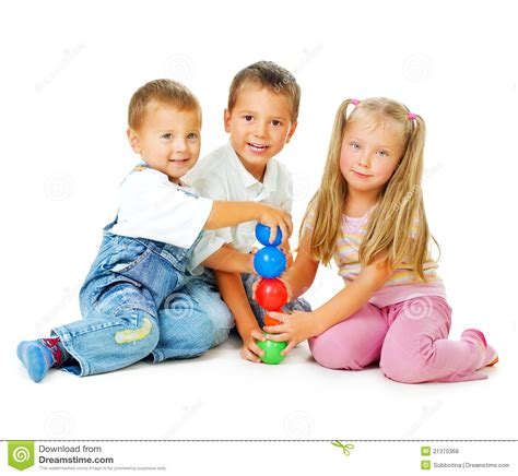 Royalty Free School Children Stock by Children On The Floor Royalty Free Stock Photos