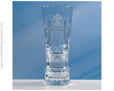 Vase Engraved Gift by Engraved Blown Glass Vase With Shattered Base The