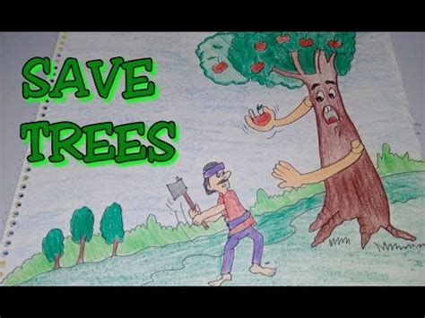 Great Green Idea Save Our Trees by World Environment Day Images