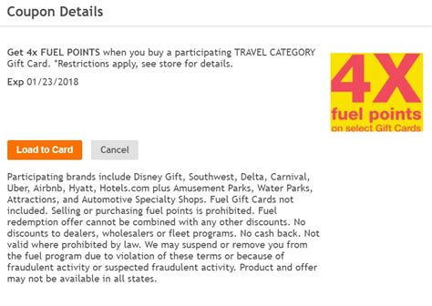 Travel Category Gift Card - expired 4x fuel points on travel gift cards at kroger frequent miler