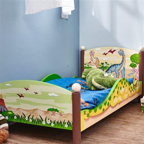dinosaur toddler bed fantasy fields dinosaur kingdom wooden toddler bed td 0087