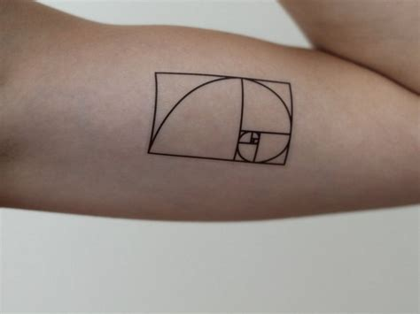 golden ratio tattoo 35 fibonacci spiral tattoos