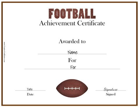 soccer certificate template free free custom football certificates