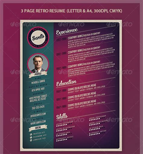 vintage resume template 45 cv resume templates that will get you hired pixel curse