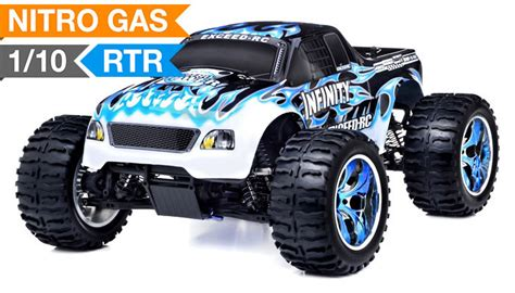 nitro gas rc monster trucks monster truck radio 1 10 2 4ghz exceed rc infinitive nitro