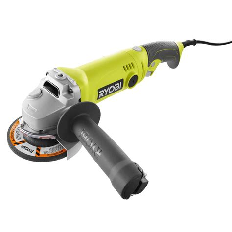 las fan grinder ryobi 7 5 amp 4 5 in corded angle grinder ag454 the