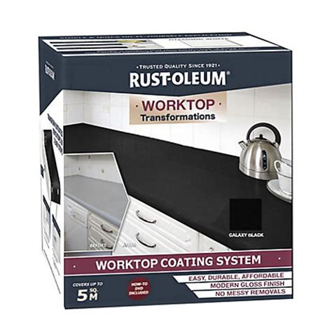 Rustoleum Countertop Paint Uk by Rustoleum Kitchen Worktop Transformation Black