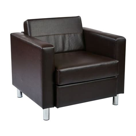 Faux Leather Accent Chair Faux Leather Accent Chair In Espresso Pac51 V34