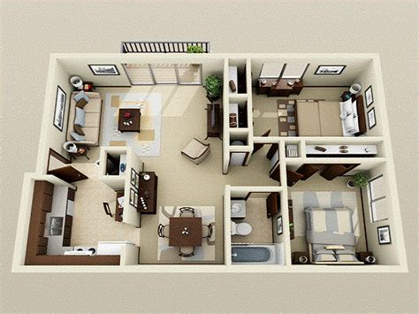 2 Bedroom Apartment Interior Design Ideas 2 Bedroom Apartments Bedroom Apartment Decorating Ideas