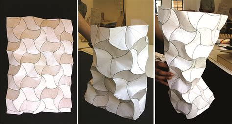 Paper Folding Shapes - aa school of architecture 2014 curved folding workshop