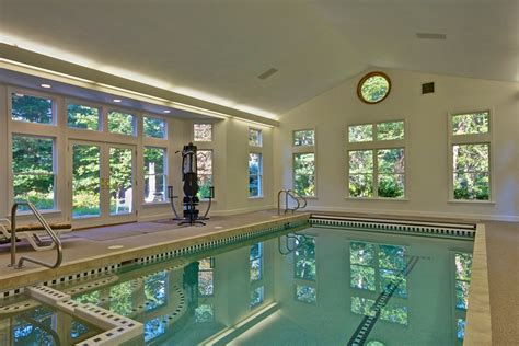 house indoor pool the holliston home with the indoor pool is for sale