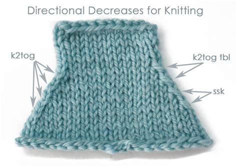 knitting decreases in the decrease knitting