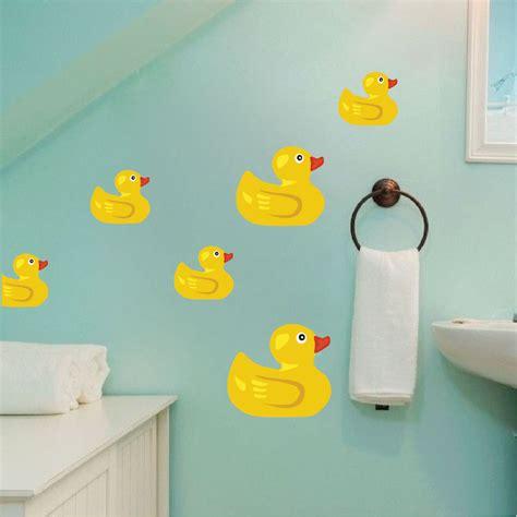 Rubber duck wall mural decal bathroom wall decal murals primedecals