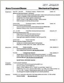 Resume or cv australia template