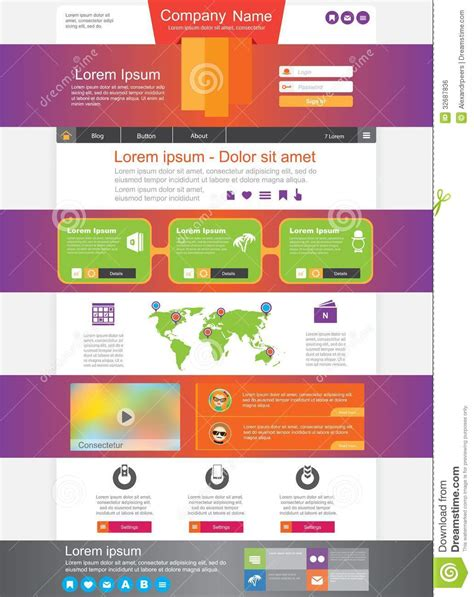 Homepage Royalty Free Stock Image Image 32687836 Universal Website Template