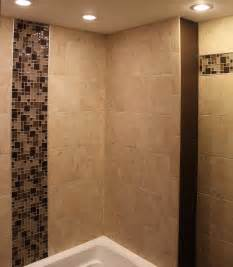 Porcelain Tile For Bathroom Shower Porcelain Tile Shower With Mosaic Glass Borders New Jersey Custom Tile