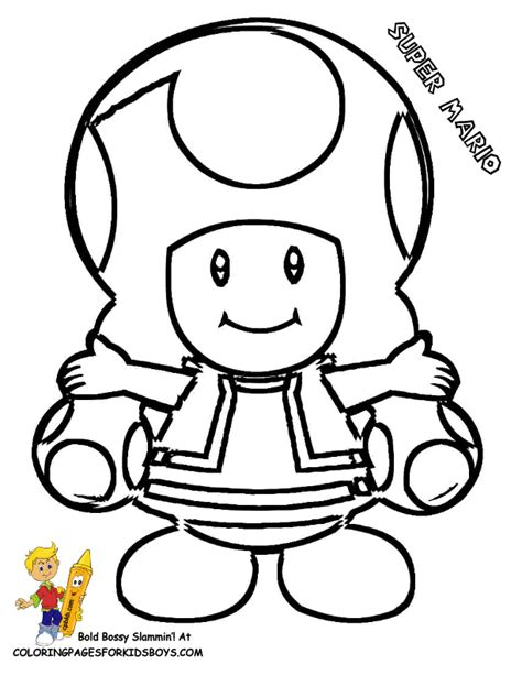 toad from mario coloring pages coloring home