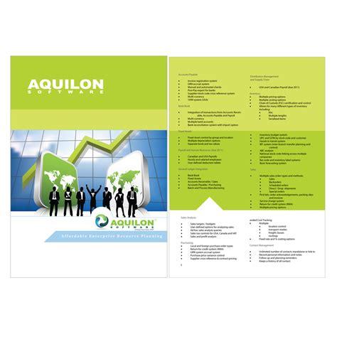 Software For Designing Brochures by Print Design Contests 187 Aquilon Software Brochure 187 Design