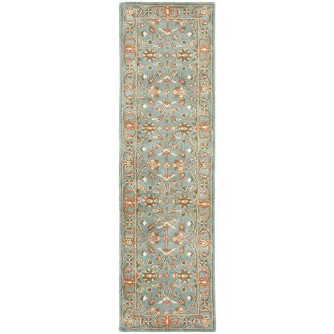 20 foot runner rug safavieh heritage blue 2 ft 3 in x 20 ft rug runner hg969a 220 the home depot