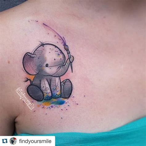 25 best ideas about small elephant tattoos on pinterest