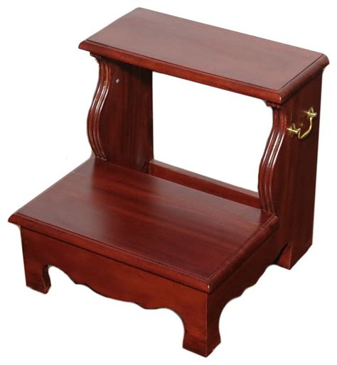 bed step stool cherry 2 step bedside office library bed step stool