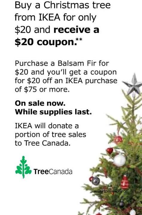 ikea canada buy christmas tree for 20 get coupon for 20