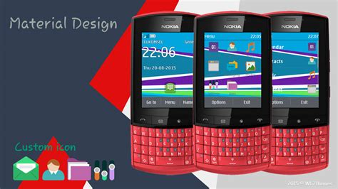 nokia c2 themes one piece flat design theme asha 202 203 300 303 nokia x3 02 c3 01