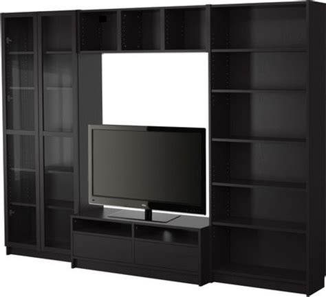 billy bookcase combination with tv bench scandinavian