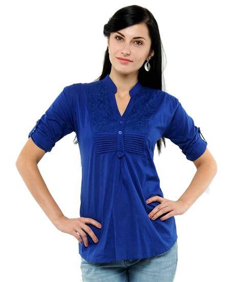 best blue u f blue cotton tops buy u f blue cotton tops online at