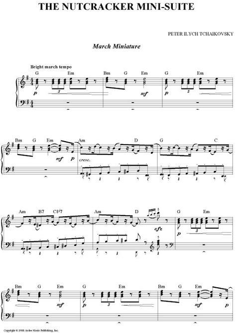 Miniatur Nutcracker Musik The Nutcracker Mini Suite Sheet By Ilyich