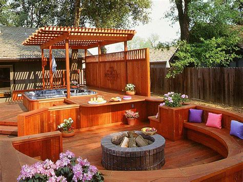 Backyard Deck by Ideas And Tips For Custom Front Yard And Backyard Decks
