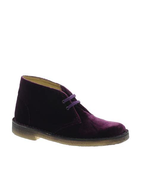 Clarks Velvet Joffie Bag by Clarks Velvet Wine Desert Boot In Purple Lyst