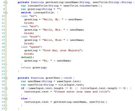 format html vscode sapphiresteel software actionscript code formatting in